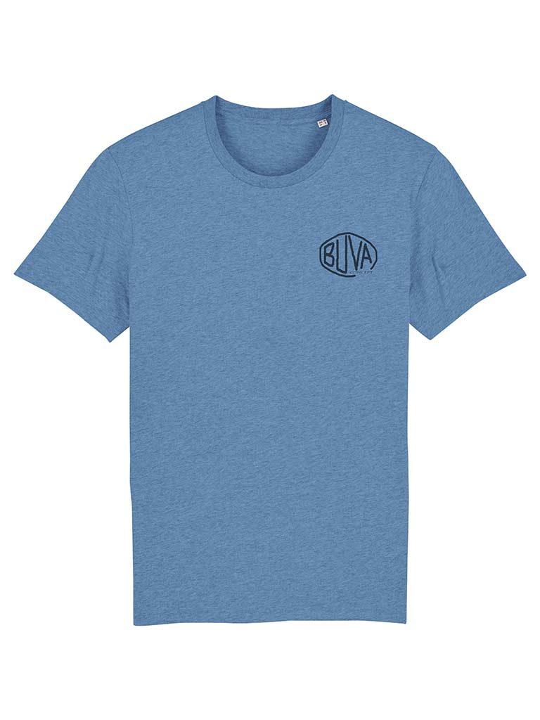 Camiseta de algodón orgánico azul